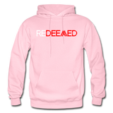 REDEEMED - Gildan Heavy Blend Adult Hoodie - light pink