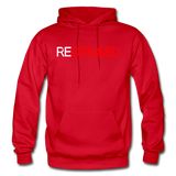 REDEEMED - Gildan Heavy Blend Adult Hoodie - red