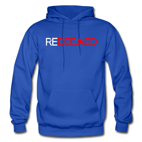 REDEEMED - Gildan Heavy Blend Adult Hoodie - royal blue