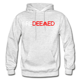 REDEEMED - Gildan Heavy Blend Adult Hoodie - light heather gray