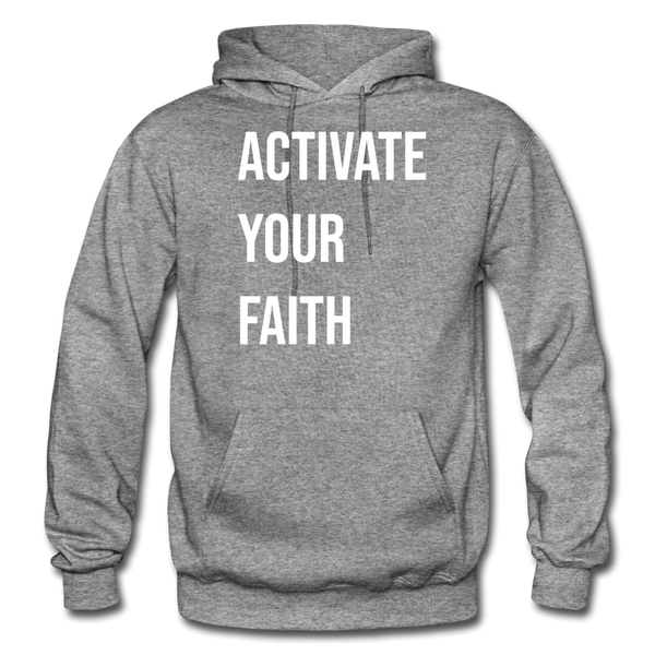 Activate Your Faith - Gildan Heavy Blend Adult Hoodie - graphite heather