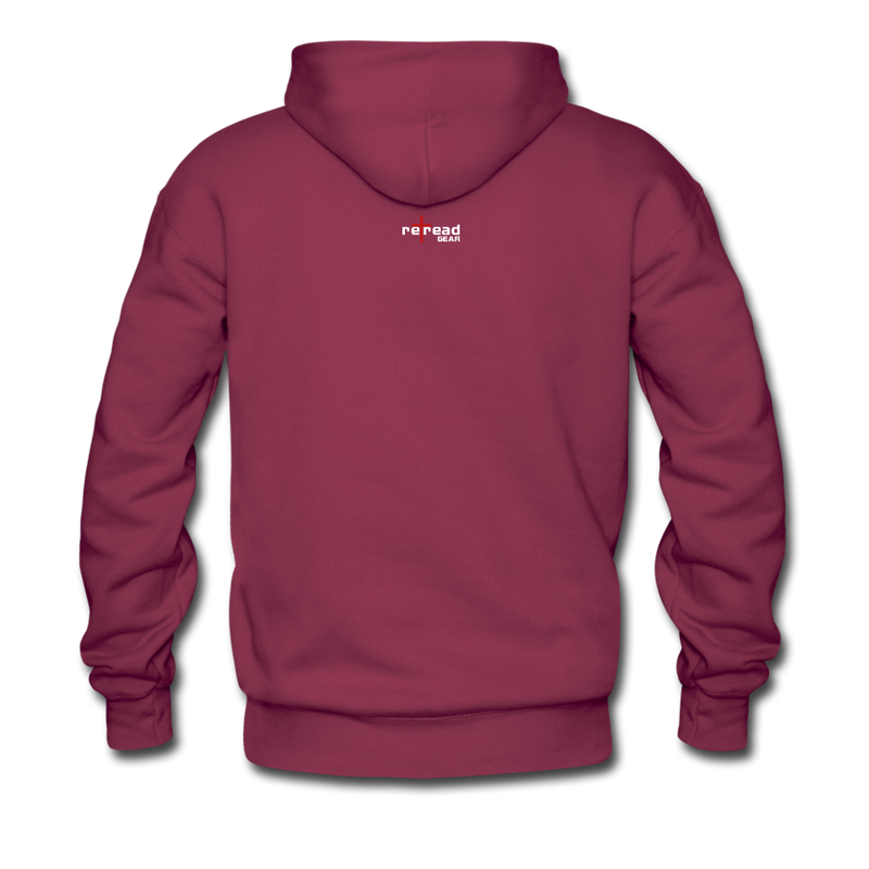 NEVER FORGET Men's Premium Hoodie - burgundy