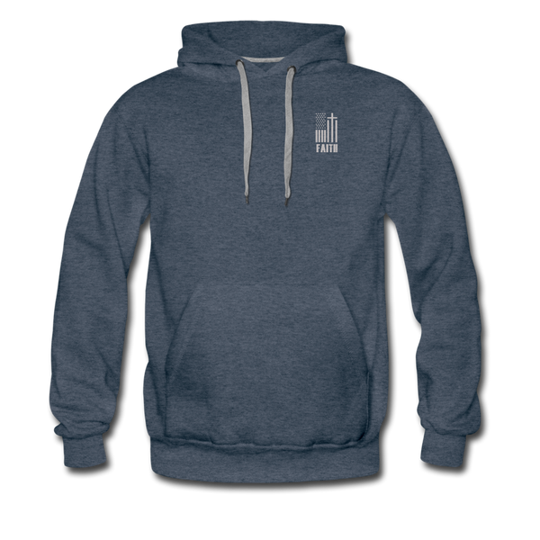USA FAITH Hoodie - heather denim