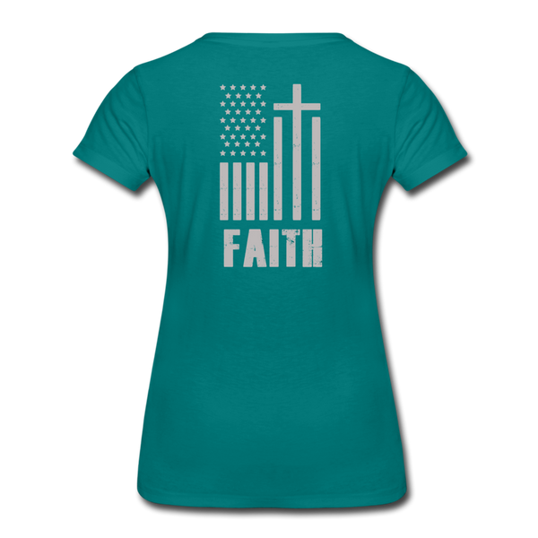 USA FAITH Women's Tee Shirt - teal