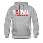 REVIVAL Men's Premium Hoodie - heather gray