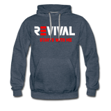REVIVAL Men's Premium Hoodie - heather denim