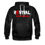 REVIVAL Men's Premium Hoodie - charcoal gray