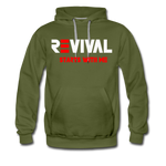 REVIVAL Men's Premium Hoodie - olive green