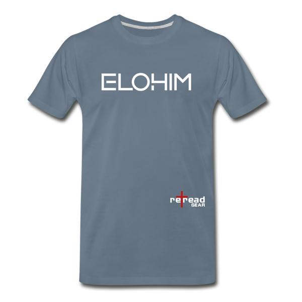 ELOHIM - Men's Premium T-Shirt - steel blue