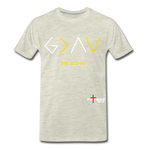 God Is Greater Than High's & Low's Unisex Premium T-Shirt - heather oatmeal