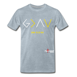 God Is Greater Than High's & Low's Unisex Premium T-Shirt - heather ice blue
