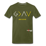 God Is Greater Than High's & Low's Unisex Premium T-Shirt - olive green
