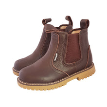 Load image into Gallery viewer, 2FeetTall | Children's brown leather Angus boots