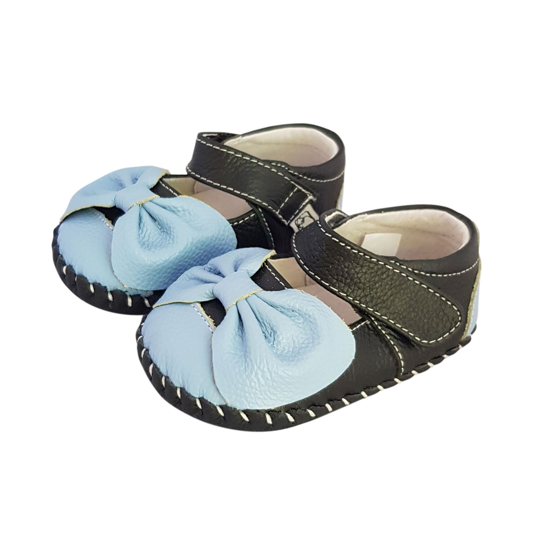 b61f4fee3b ... Load image into Gallery viewer, 2FeetTall | Girls leather baby shoes  with bow