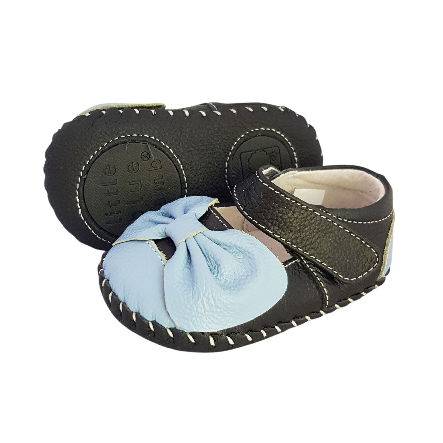 afe0cff45a Load image into Gallery viewer, 2FeetTall | Girls leather baby shoes with  bow side on ...