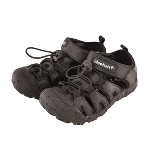 2FeetTall | Black Riley School Sandal