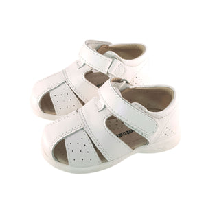 2FeetTall | White leather Toddler Sandal