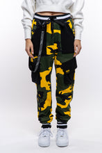 Load image into Gallery viewer, Yellow Camo Cargo Joggers