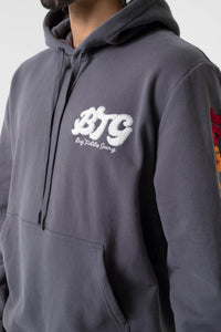 BTG x Staydium Terry Embroidered Hoodie in Charcoal
