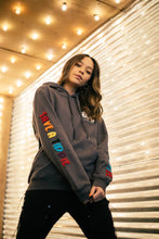 Load image into Gallery viewer, BTG x Staydium Terry Embroidered Hoodie in Charcoal