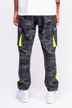 Load image into Gallery viewer, Black Camo Cargo Pants 2