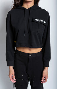 Cropped Hoodie w/ Cargo Pocket