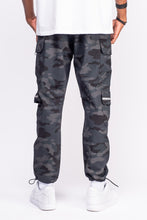 Load image into Gallery viewer, Black Camo Cargo Pants