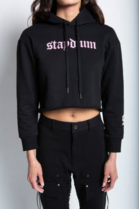 Long Sleeve Fleece Cropped Hoodie