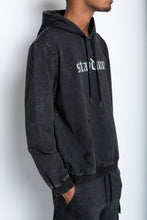 Load image into Gallery viewer, Black Mineral Wash Hoodie