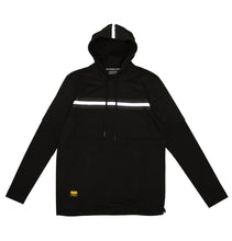 Load image into Gallery viewer, Reflective Tape Black Hoodie