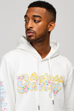 Load image into Gallery viewer, BTG x Staydium Pop-up Floral Print Hoodie in White