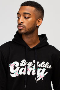 BTG x Staydium Pop-up Floral Print Hoodie in Black