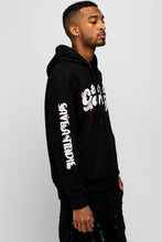 Load image into Gallery viewer, BTG x Staydium Pop-up Floral Print Hoodie in Black