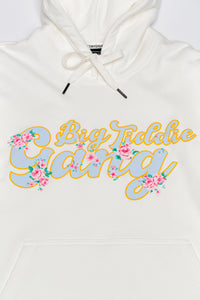 BTG x Staydium Pop-up Floral Print Hoodie in White