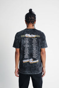 Healers X Staydium Tour T-shirt in Black Mineral Dye
