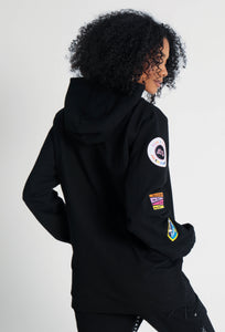 BTG x STAYDIUM Patch Zip-Up Hoodie in Black