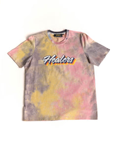 Healers X Staydium Tour T-shirt in Vintage Yellow Tie Dye