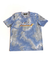 Load image into Gallery viewer, Healers X Staydium Tour T-shirt in Vintage Blue Tie Dye