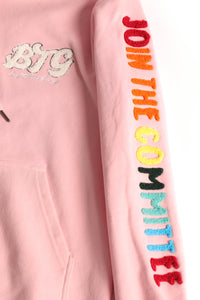 BTG x Staydium Terry Embroidered Hoodie in Pink