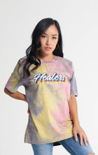 Load image into Gallery viewer, Healers X Staydium Tour T-shirt in Vintage Yellow Tie Dye