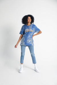 Healers X Staydium Tour T-shirt in Vintage Blue Tie Dye