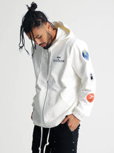 Load image into Gallery viewer, BTG x STAYDIUM Patch Zip-Up Hoodie in White