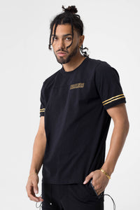 Healers X Staydium Staff Tee in Black with Gold Foil Print