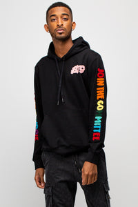 BTG x Staydium Terry Embroidered Hoodie in Black
