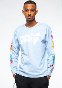 BTG x Staydium Long Sleeve T-shirt in Light Blue
