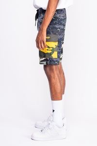 Camo Blend Navy Cream Shorts
