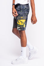 Load image into Gallery viewer, Camo Blend Navy Cream Shorts