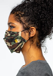 Green Combo Camo Face Mask