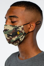 Load image into Gallery viewer, Green Combo Camo Face Mask