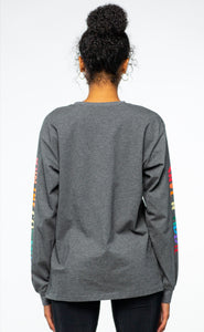 BTG x Staydium Long Sleeve T-shirt in Charcoal